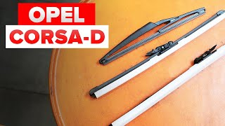 How to replace wipers blades / window wipers OPEL CORSA D [TUTORIAL AUTODOC]