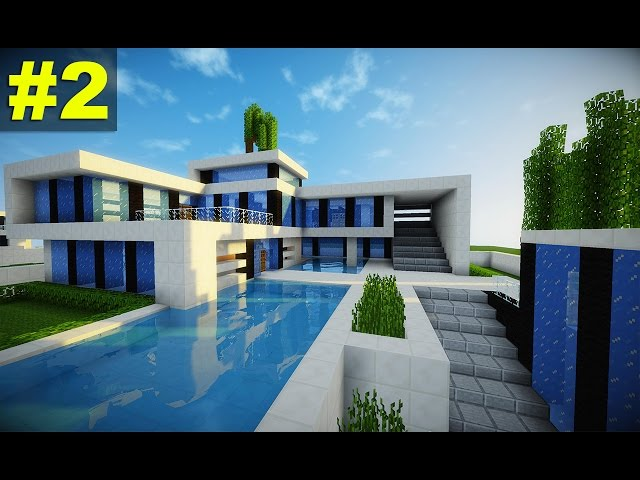 Casa super moderna nhltv net for Tutorial casa moderna grande minecraft