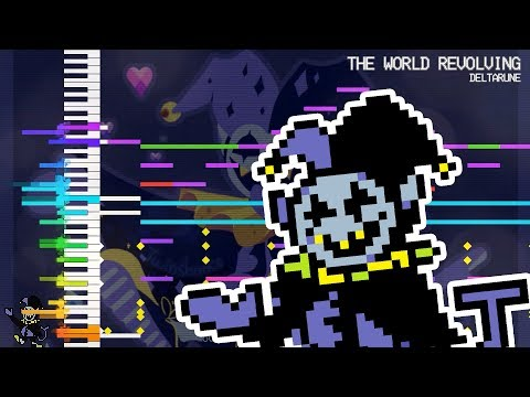 【MIDI DL】THE WORLD REVOLVING (Jevil's Theme) | DELTARUNE | Touhou Style Remix | MIDI Remaster