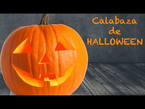 Como Hacer Una Calabaza Para Halloween De Decoracion Youtube - Calabaza-hallowen