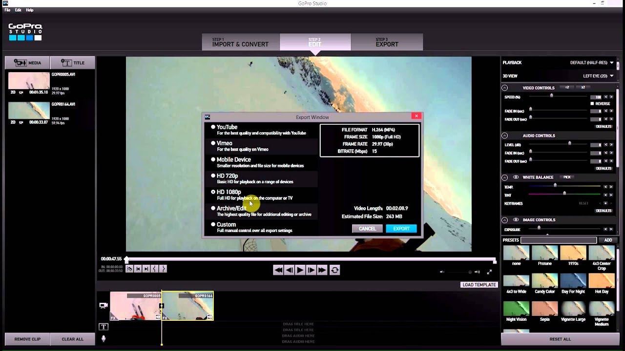 Max export quality gopro studio 20 gopro tips and tricks youtube max export quality gopro studio 20 gopro tips and tricks pronofoot35fo Images