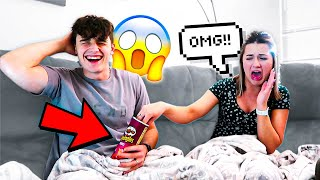PRINGLES PRANK ON WIFE!