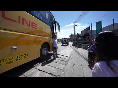 Philippines, bus ride from SM City San Jose Del Monte to Robinsons Fairview