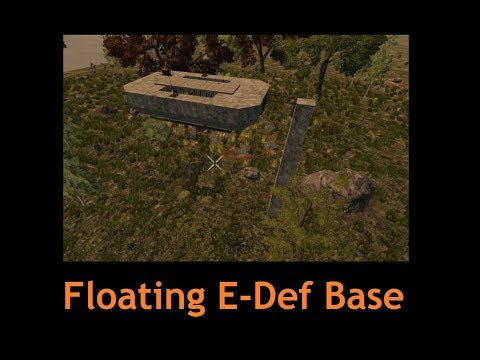 7 Days to Die - Floating Base with Electrical Fence Defense 2.0 #Concept [7dtd 16.x (16.4... )]