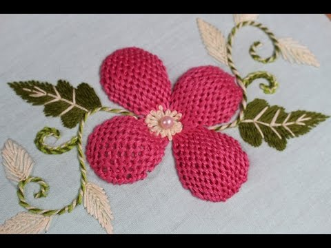 Hand Embroidery Designs | Pump lace stitch | Stitch and Flower -139