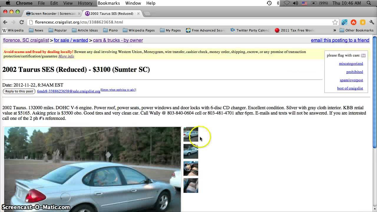 Craigslist Charleston Sc Cars For Sale By Owner