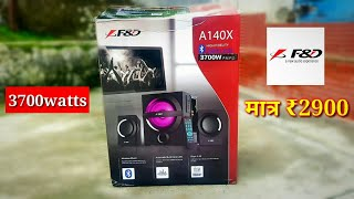 F amp D A140X 2 1 MULTIMEDIA SPEAKER UNBOXING REVIEW DEEEP BASS BEST HOME THEATRE UNDER 3000rs