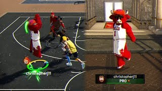 A SUBSCRIBER GAVE ME HIS 98 OVR ACCOUNT😱 MASCOTS TURNS ME INTO DEMI-GOD😳 - NBA 2K19