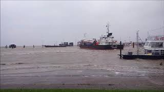 05.10.2017: Sturmtief Xavier wütet an der Nordsee im Nordseebad Carolinensiel-Harlesiel