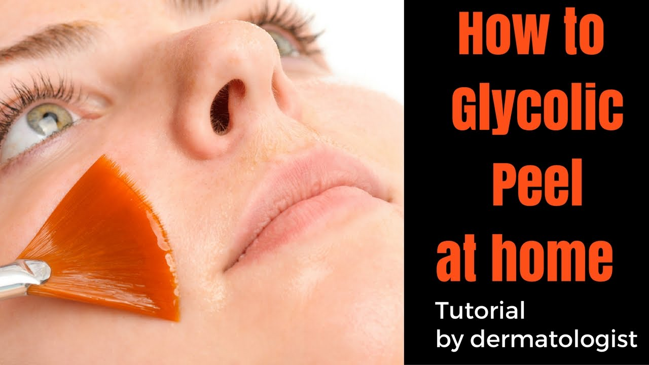 How To Glycolic Peel At Home Youtube