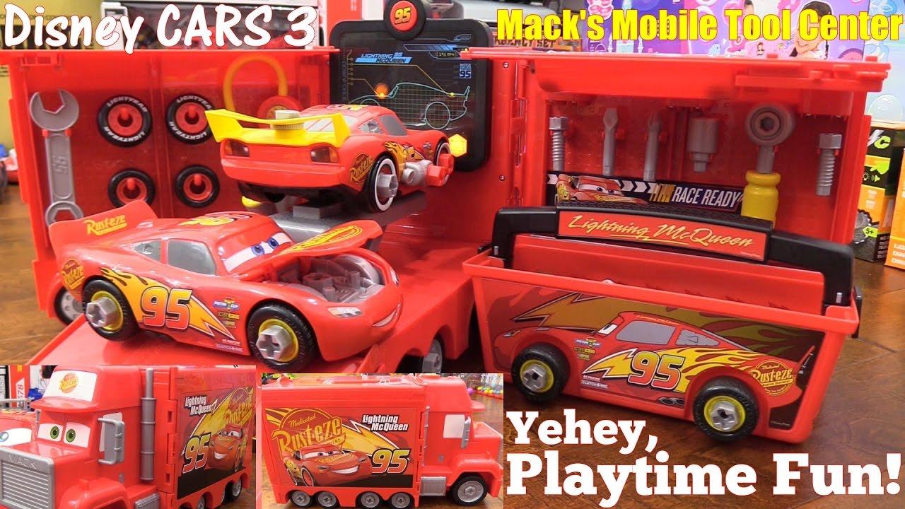 Disney CARS 3 Mack Mobile Tool Center. Modified Lightning McQueen! Mechanicu0027s Tools Pretend Playtime & Disney CARS 3 Mack Mobile Tool Center. Modified Lightning McQueen ...