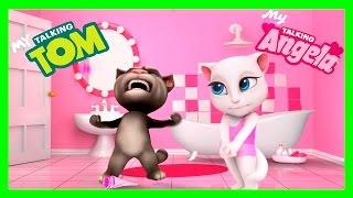 МОЯ ГОВОРЯЩАЯ АНДЖЕЛА #8. ГОВОРЯЩИЙ ТОМ И ДРУЗЬЯ - мультик игра видео для детей про котиков.