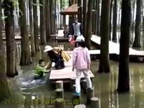 森林里的落水宝宝