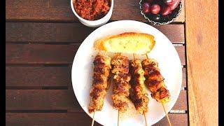 Куриные шашлычки на шпажках в духовке. Люля Кебаб - Шашлычки из курицы/Chicken Kebab on skewers.