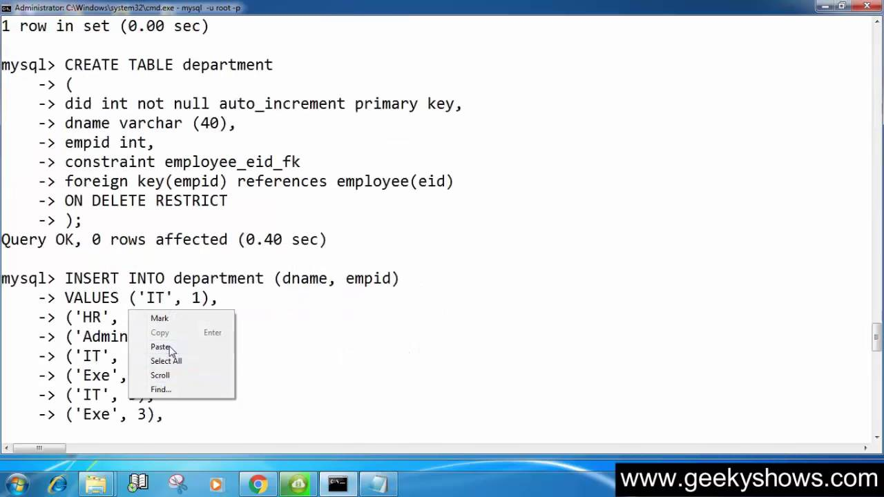ON DELETE NO ACTION or ON UPDATE RESTRICT in SQL (Hindi)  sc 1 st  YouTube & 115. ON DELETE NO ACTION or ON UPDATE RESTRICT in SQL (Hindi) - YouTube
