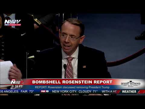 BREAKING REPORT: Rod Rosenstein Wanted To Remove President Trump From Office