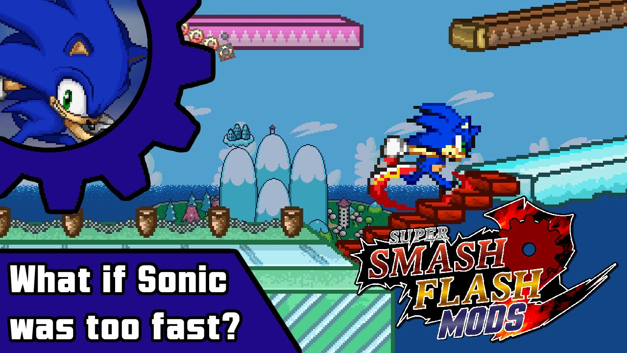 SSF2 Mods - What if Sonic was TOO fast?
