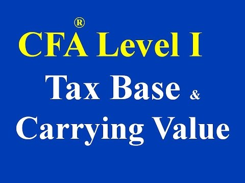 CFA level I- Tax Base and Carrying Value of Asset
