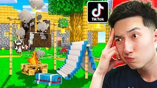 VIRAL TIKTOK MINECRAFT HACKS THAT ACTUALLY WORK!
