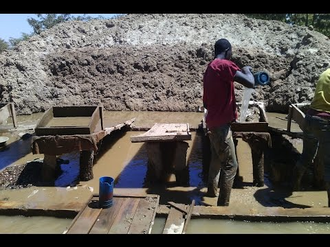 Mining activities at small scale mines
