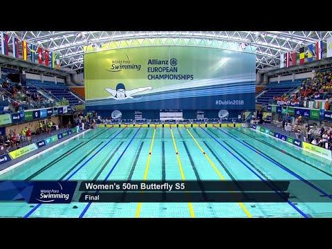 Women's 50m Butterfly S5 Final   Dublin 2018