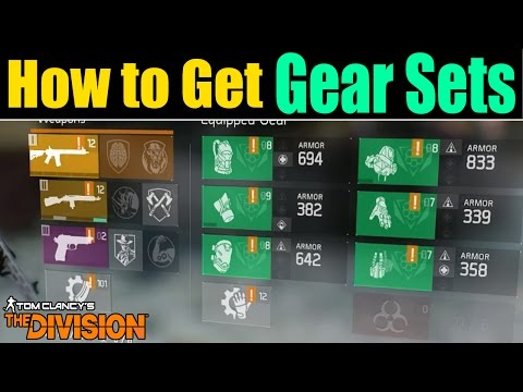 The Division: HOW TO GET THE NEW GEAR SETS!