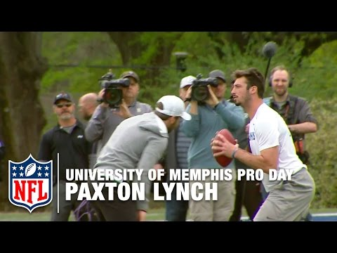 Paxton Lynch (Memphis, QB) Shows Off Arm Strength! | Pro Day Highlights | NFL