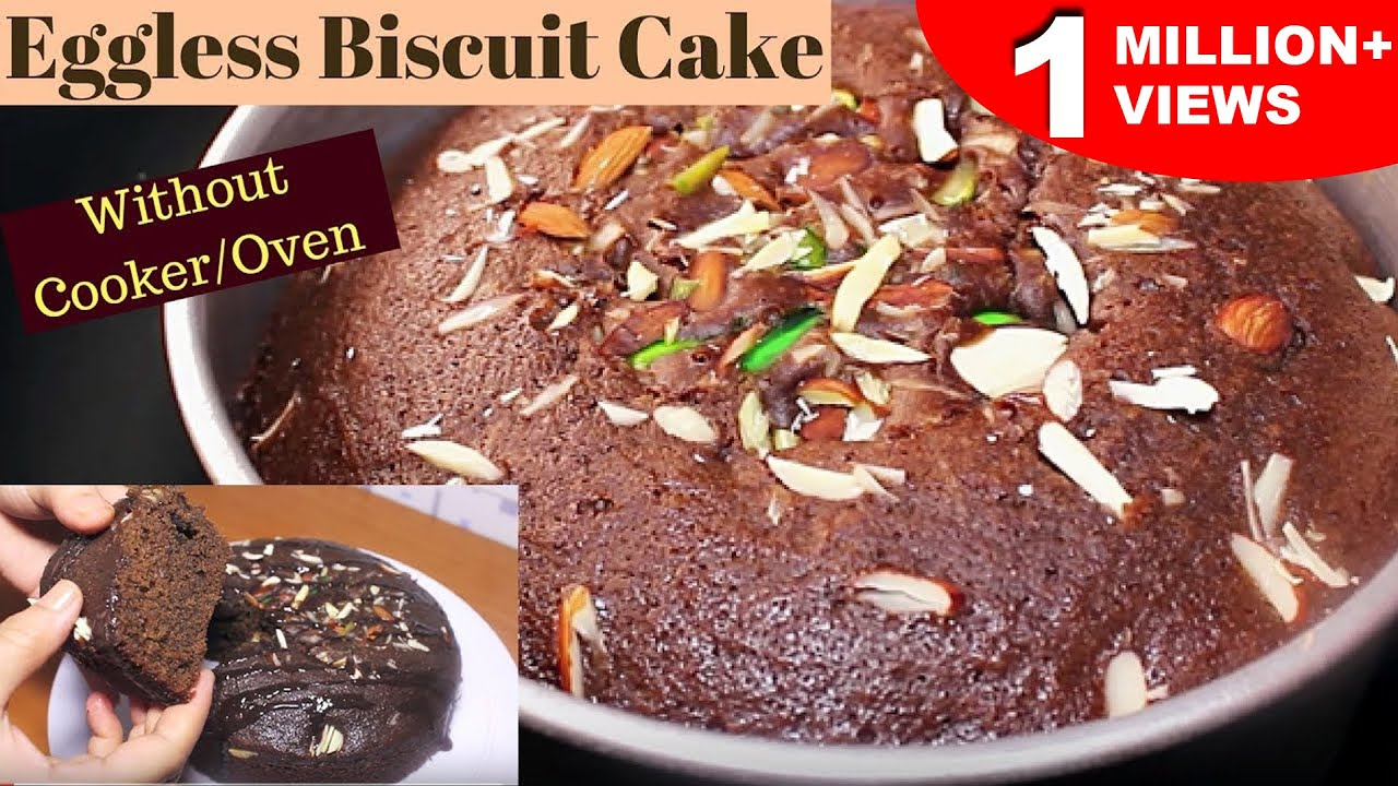 Biscuit Cake How To Make Biscuit Cake Without Ovencooker