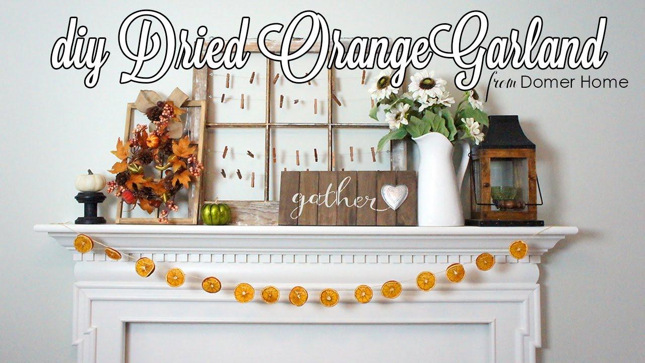 Christmas Diy Decor Challenge 2017 Diy Dried Orange Garland