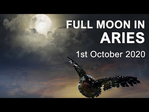ARIES FULL MOON - OCTOBER 1ST 2020