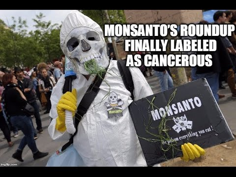Monsanto's Roundup Herbicide FINALLY Labeled As Cancerous