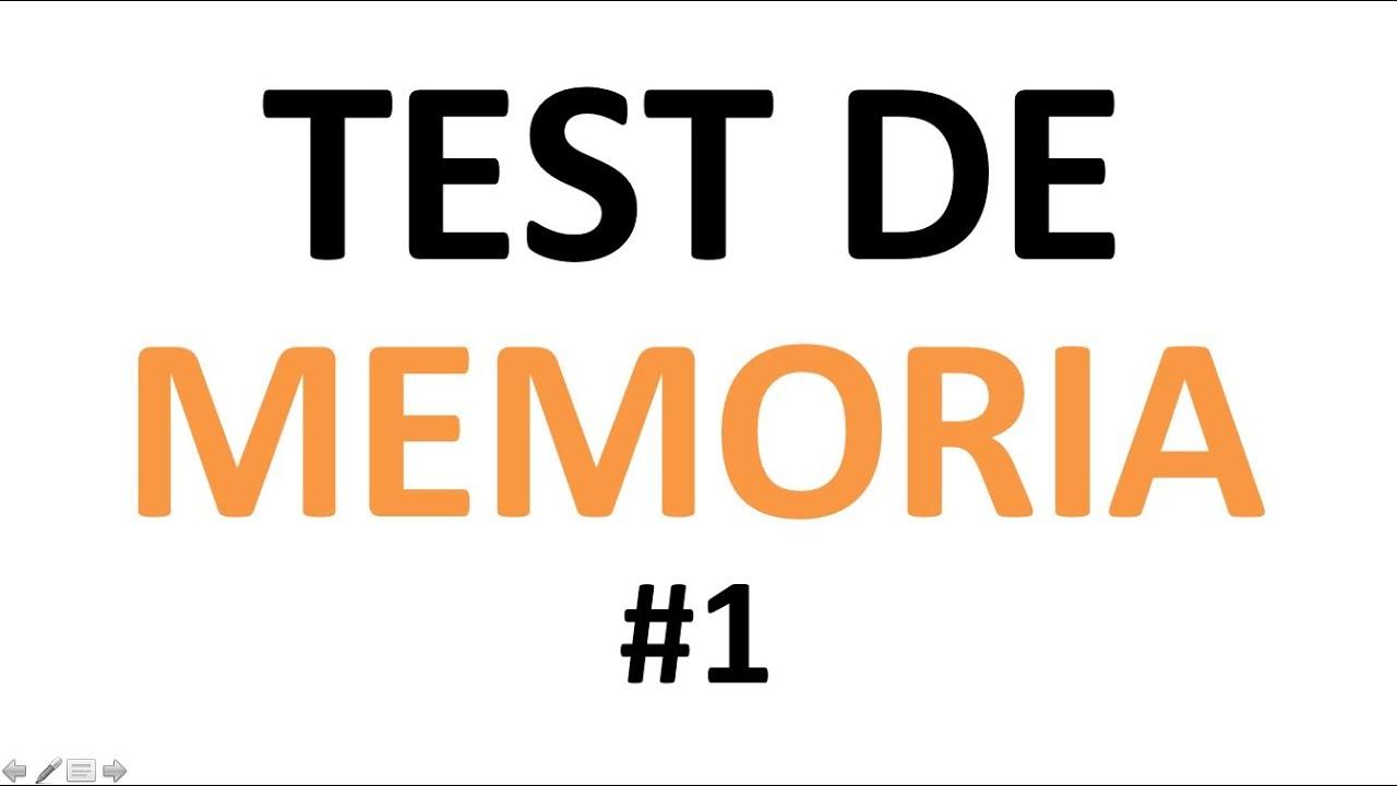 test de memoria tienes buena memoria 1 youtube. Black Bedroom Furniture Sets. Home Design Ideas