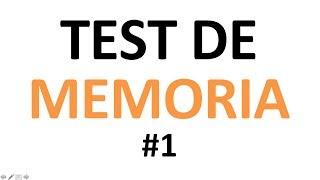 TEST DE MEMORIA: Tienes buena memoria? #1