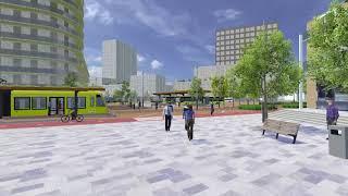 Eerste impressie verbouwing P-West en tramstation in de binnenstad