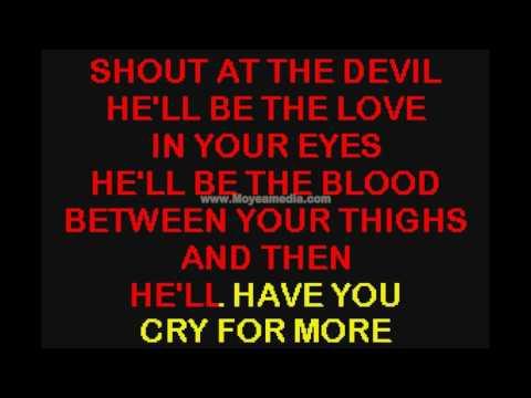 Shout At The Devil   Motley Crue HD Karaoke PK00453