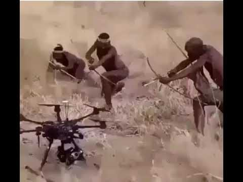African tribe encounters drone
