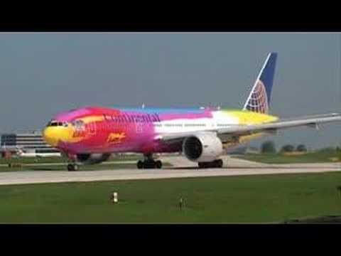 Continental Airlines Peter Max Boeing 777