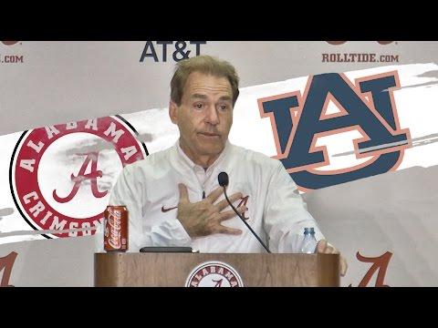 Hear what Nick Saban said after Alabama rolled Auburn