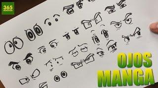 COMO DIBUJAR OJOS ANIME - COMO DIBUJAR OJOS MANGA - How to draw manga eyes