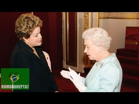 Queen Elizabeth II meets President of Brazil Dilma Rousseff during a reception at Buckingham Palace