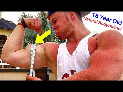 18 Year Old Natural Bodybuilder - How Big Are My Arms? | Andreas Ziegler