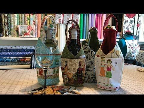 Wine Bottle Bag Tutorial - YouTube