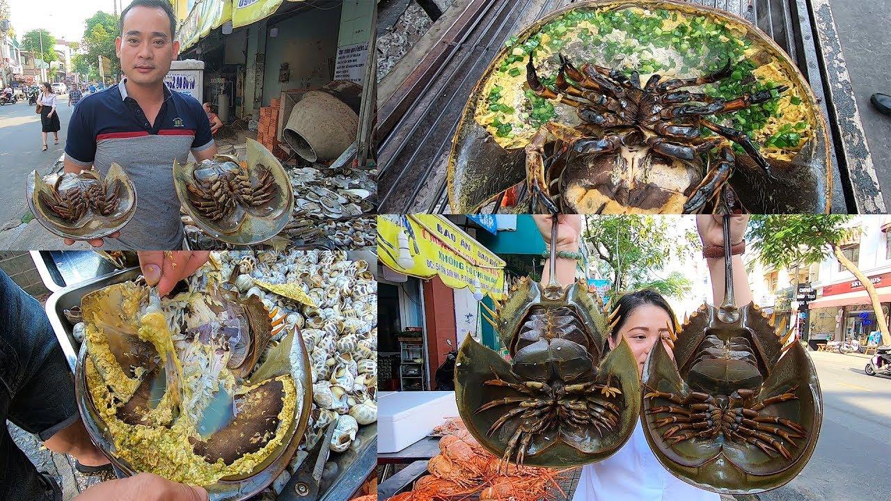 Chơi sốc chủ quán 54 Tân Sơn Nhì đem thủy quái Sam biển khổng lồ nướng mỡ hành trên vỉa hè Sài Gòn