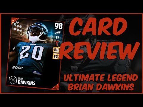 MUT 17 Card Review | Ultimate Legend Brian Dawkins Gameplay + Card Review