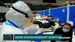 New video from China's makeshift hospitals; WSJ reporters kicked out of country
