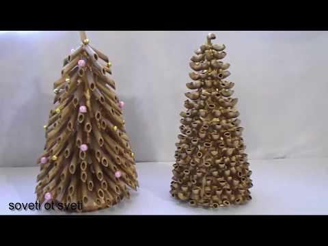 DIY:Как сделать  ЁЛКУ из МАКАРОН на НОВЫЙ ГОД  своими руками\CHRISTMAS TREE OF PASTA