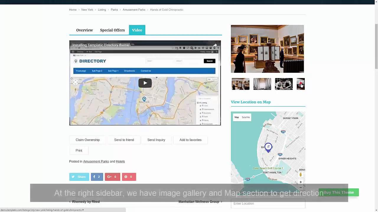 Listings WordPress Directory Theme By Templatic - YouTube