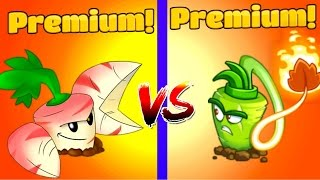 Plants vs Zombies 2 Gameplay PARSNIP vs WASABI WHIP Premium vs Premium Plantas PVZ 2 Primal