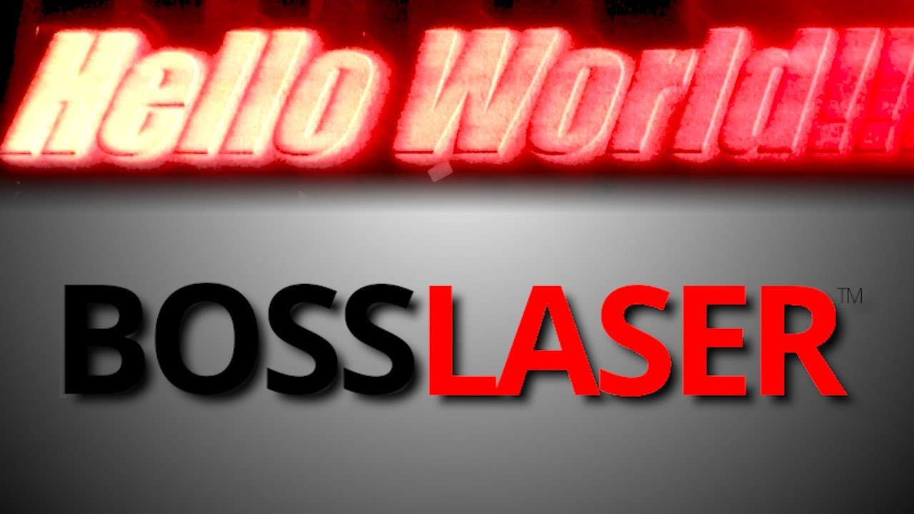 We bought a BOSS LASER!