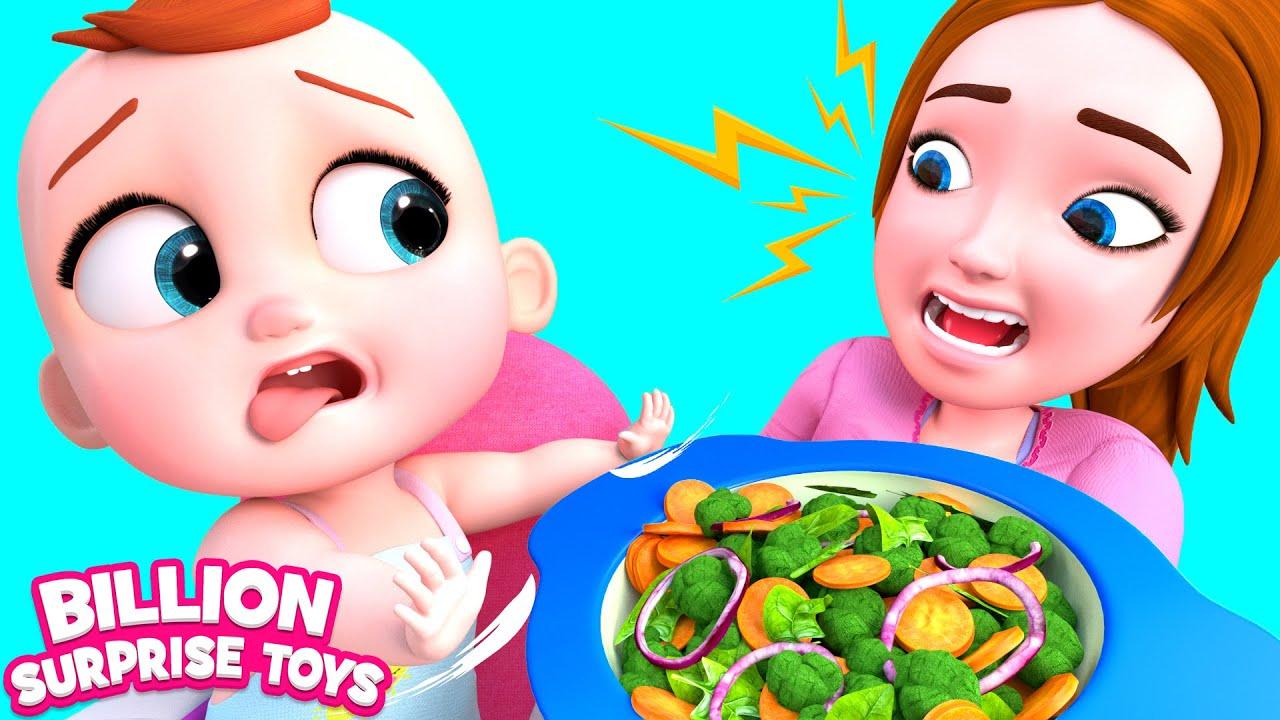 Pelajari kebiasaan makan yang sehat dengan Mommy dan Baby Johny.